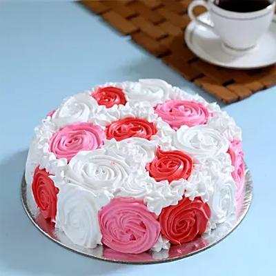 Yummy Colourful Rose Cake