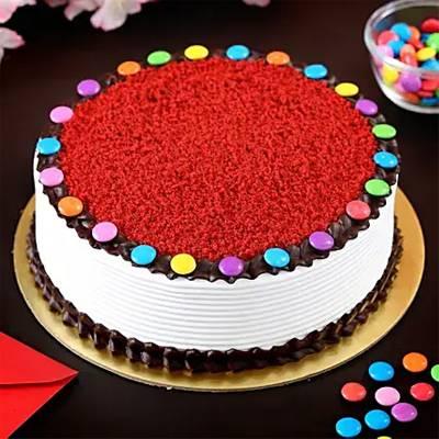 Red Velvet Gems Cake- Half Kg