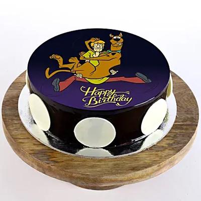 Scooby & Shaggy Chocolate Photo Cake