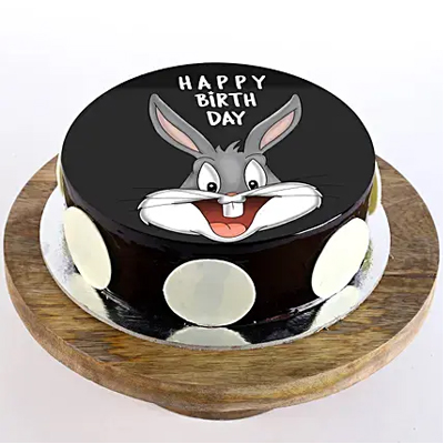 Bugs Bunny Chocolate Photo Cake
