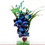 Hearty Orchid Vase Arrangement