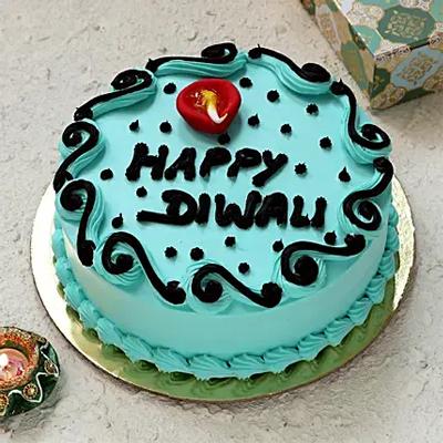 Shubh Diwali Black Forest Cake