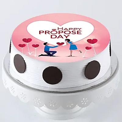 Propose Day Photo Cake- Pineapple