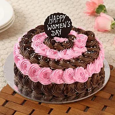 Decorated Women's Day Chocolate Cake