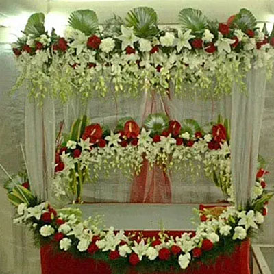Superb Floral Ganapati Decoration