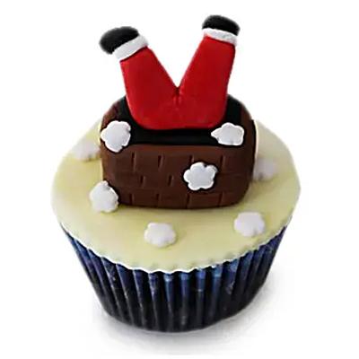 Falling Santa Cupcakes 6