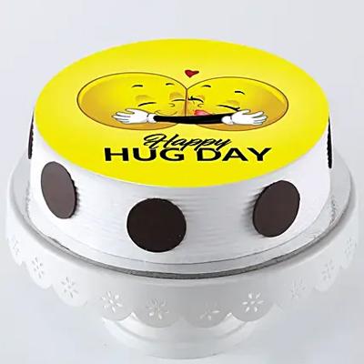 Hug Day Photo Cake- Pineapple