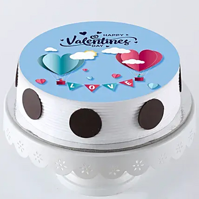 Hearts In Love Photo Cake- Pineapple