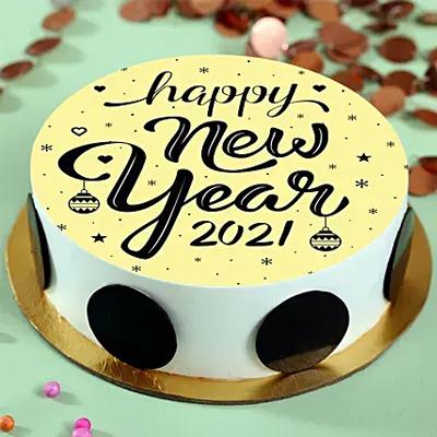 2021 Pineapple Photo Cream Cake