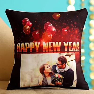 New Year Fireworks Personalised Cushion