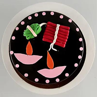 Shubh Deepavali Chocolate Cake