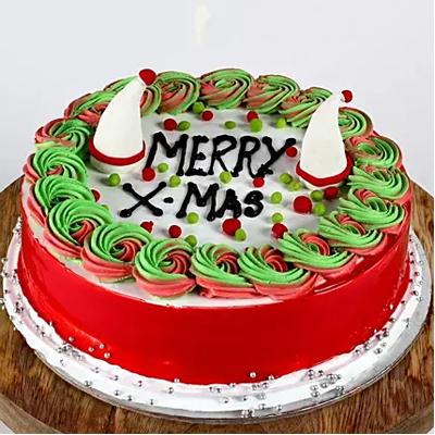 Merry X Mas Chocolate Cake