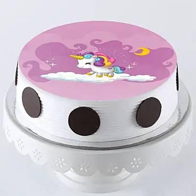Dreamy Unicorn Pineapple Photo Cake- Half Kg