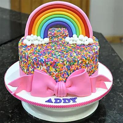Rainbow Sprinkles Chocolate Cake
