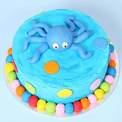 Designer Octopus Chocolate Cake