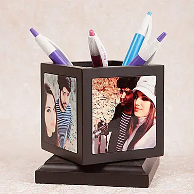 Personalized Rotating Pen Holder
