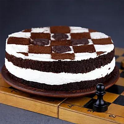 Chessboard Design Black Forest Cake