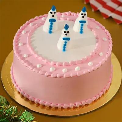 Snowman Black Forest Cake