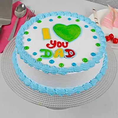 I Love You Dad Cream Chocolate Cake