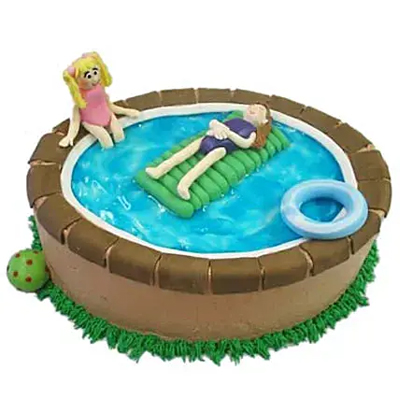 Swimming Pool Cake 3Kg Chocolate