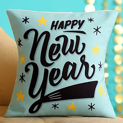 Chic Happy New Year Cushion- Hand Delivery