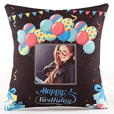 Personalised Birthday Balloon Cushion