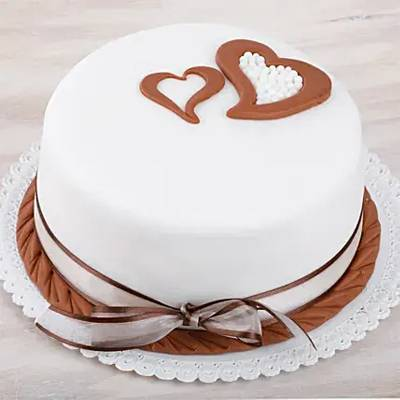 Hearts Love Fondant Chocolate Cake 1 Kg