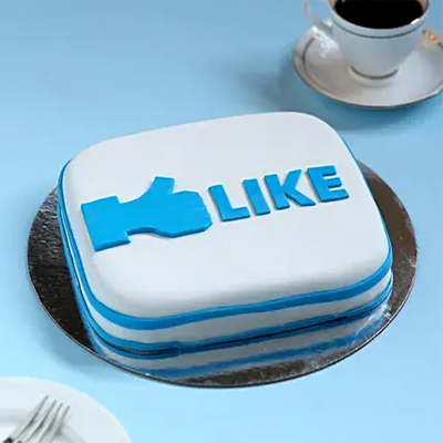 Facebook Customized Cake Chocolate