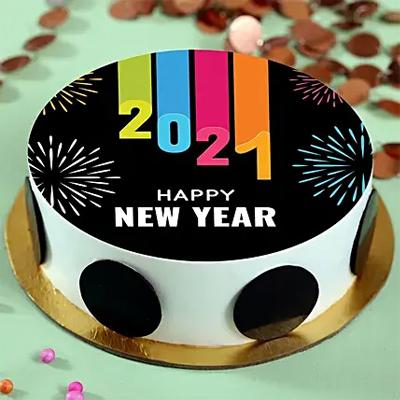 New Year Pineapple Photo Cake
