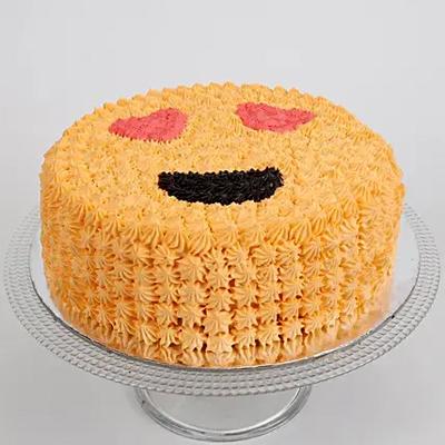 Love Smiley Chocolate Cake