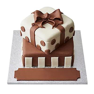 Special Gift Box Fondant Cake Chocolate
