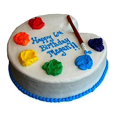 Artist Birthday Cake Vanilla
