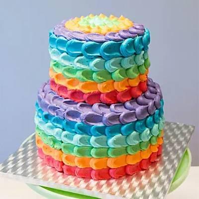 Two-Tier-Rainbow-Cake