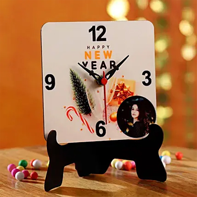 Happy New Year Personalised Table Clock