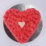 Valentine Heart Shaped Cake 1kg Vanilla