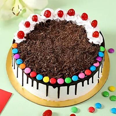 Yummy Black Forest Gems Cake- Half Kg