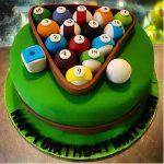Pool Game Designer Truffle Cake