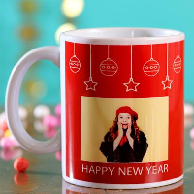 Festive Happy New Year Personalised Mug
