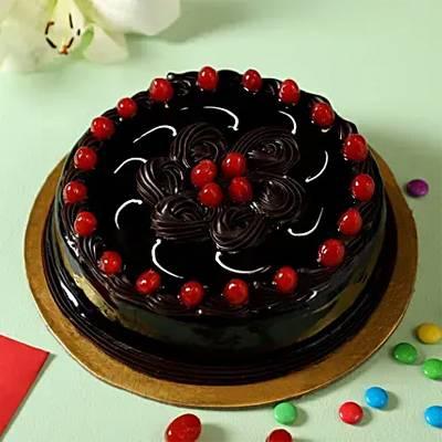 Truffle Cherry Cake- Half Kg