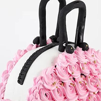 Floral Purse Truffle Cake