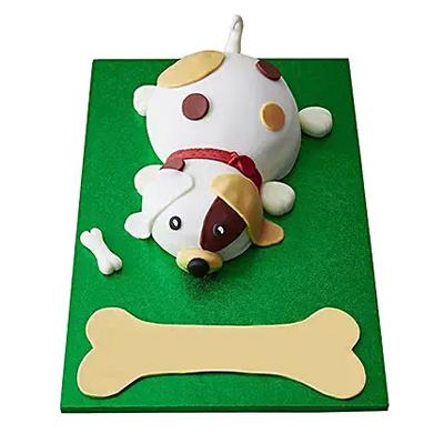 Puppy Fondant Cake Chocolate