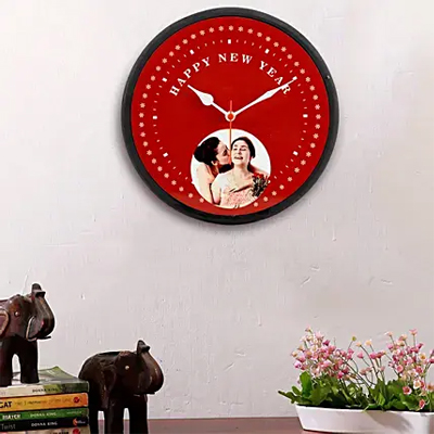 Happy New Year Personalised Wall Clock