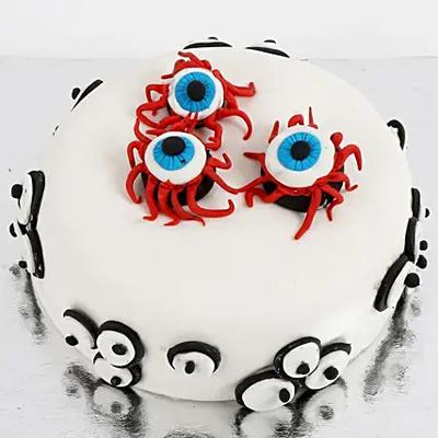 Scary Eyeballs Vanilla Cake