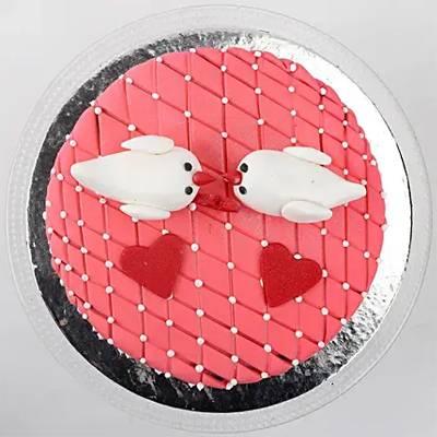 Kissing Birds Chocolate Cake 1 Kg