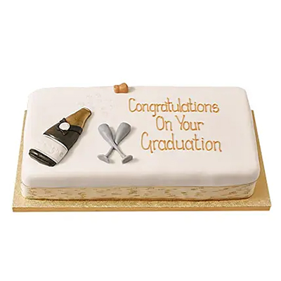 Congratulations Fondant Cake Chocolate