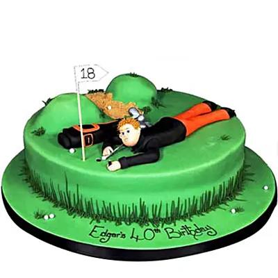 Stunning Golf Course Cake Chocolate