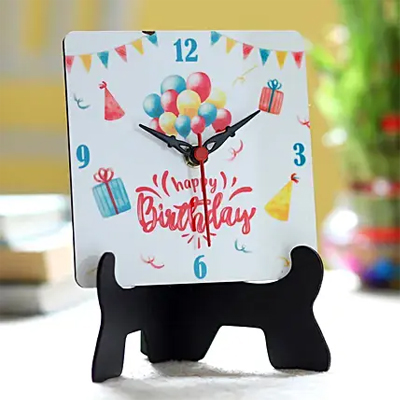 Birthday Wishes Table Clock