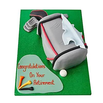 Golf Bag Fondant Cake Chocolate