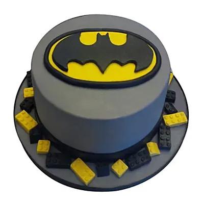 Round Batman Cake