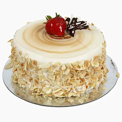 Rich Caramel Almond Flakes Cake